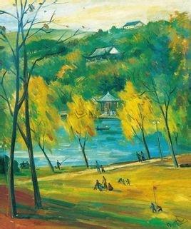 倪贻德擅画风景,兼擅油画,水彩和速写,各类题材作品丰盛.
