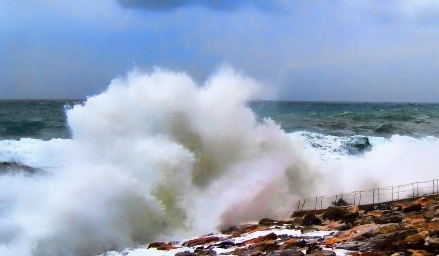 海啸风景图片大全