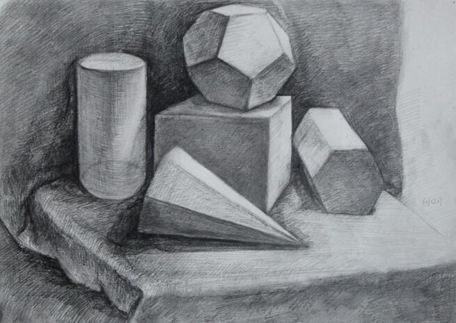 素描石膏几何体_360百科