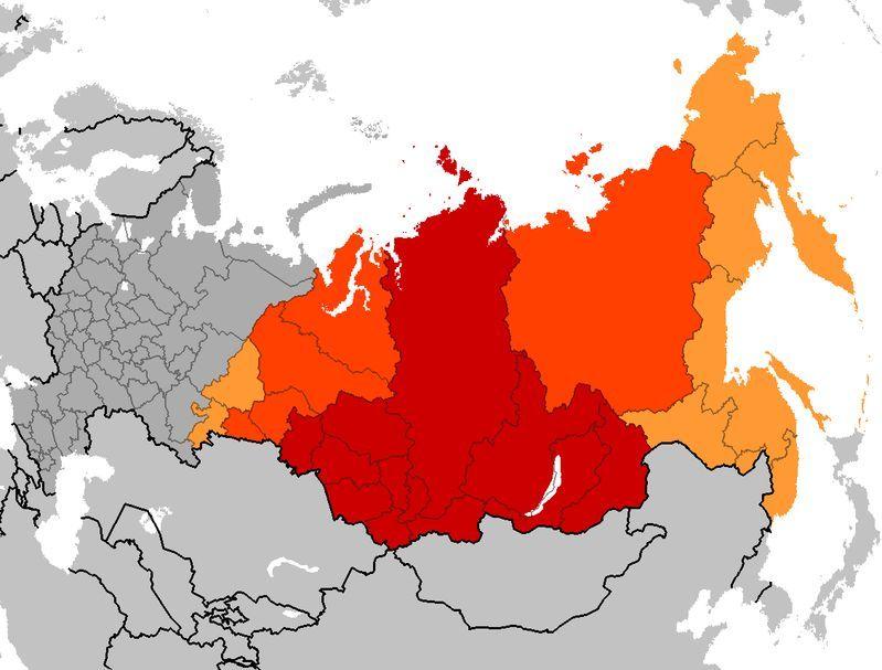 北亚地理位置图