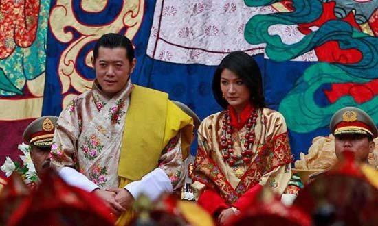 不丹国王与王妃