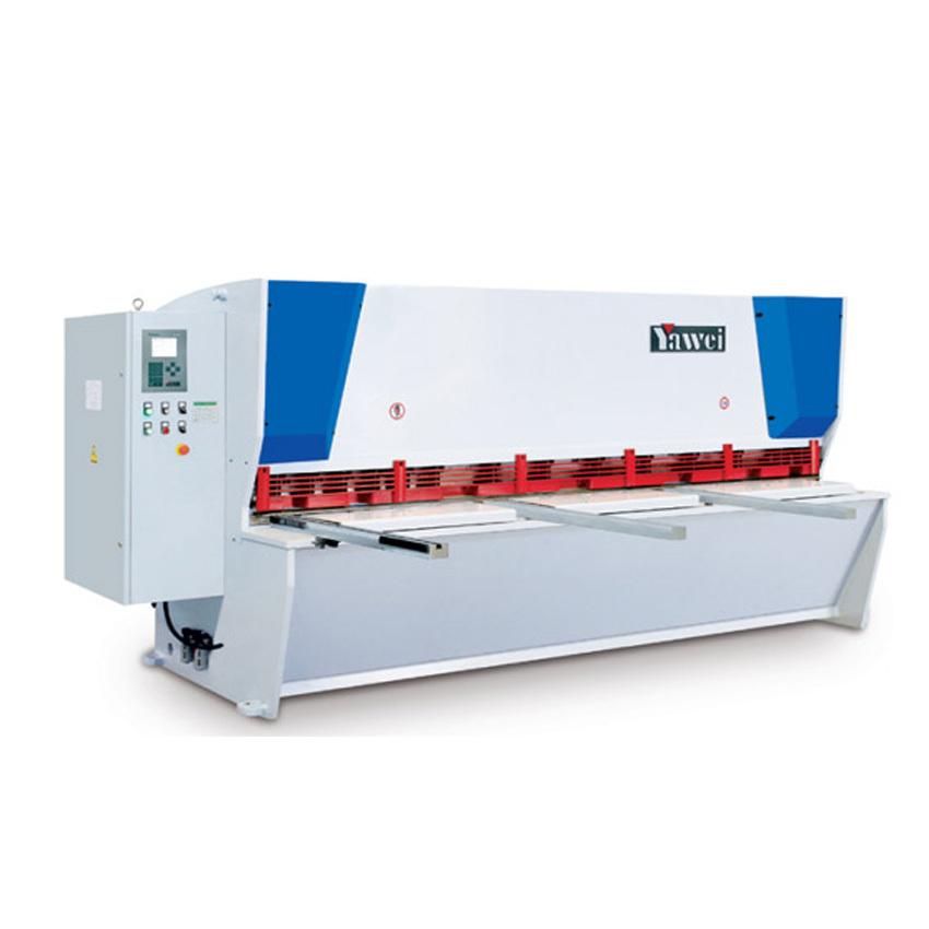 数控闸式剪板机性能与特点: 全钢焊接结构,综合处理(振动时效,热处理