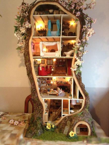梦幻的创意树屋,非常精致可爱.「转」