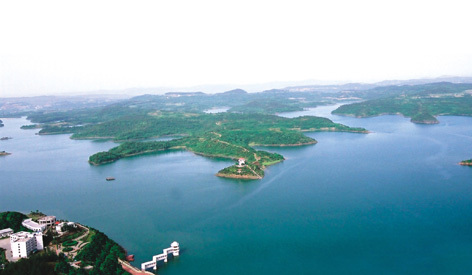 绵阳市仙海风景区是依托沉抗水库建立起来的省级水利风景区,距绵阳