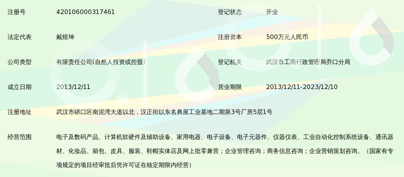 武汉黑麦电子商务有限公司_360百科