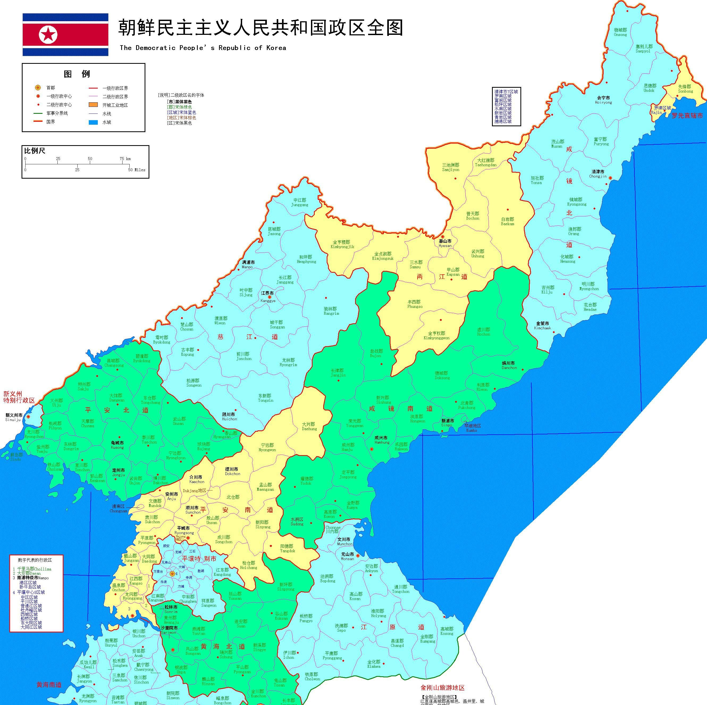 朝鲜与中国接壤风景区