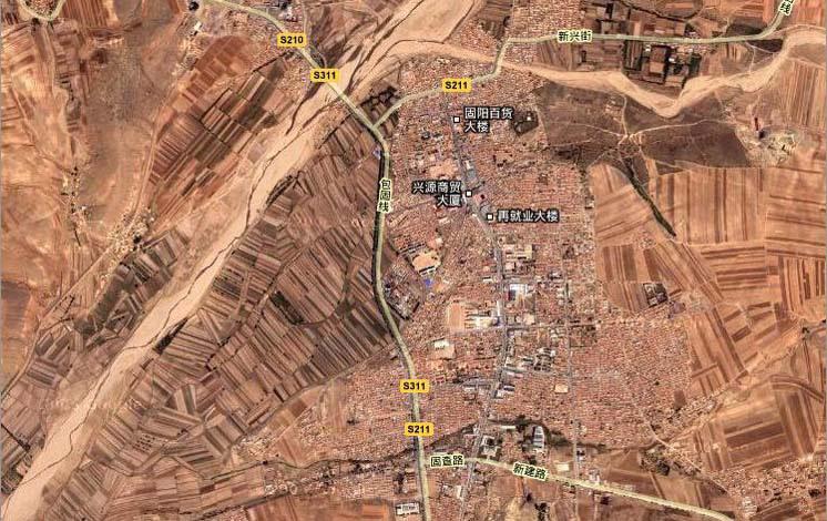 固阳县乌苏图勒河卫星地图