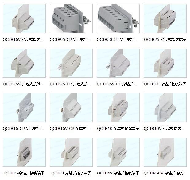 栅栏式接线端子系列,弹簧式接线端子系列