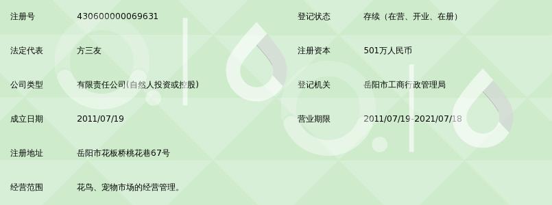 岳阳市三友花鸟宠物市场有限公司_360百科