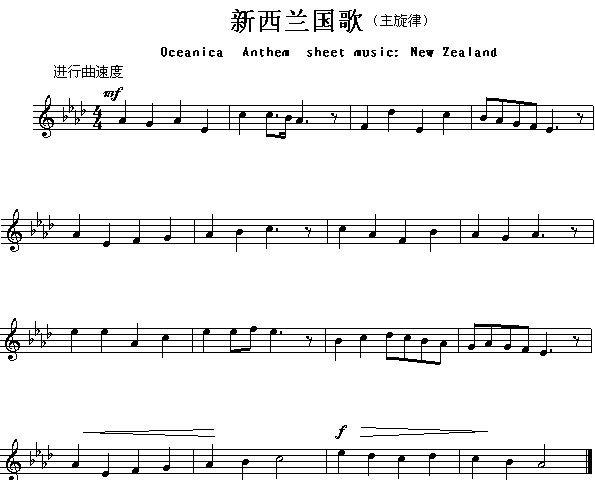 国歌长号这乐谱